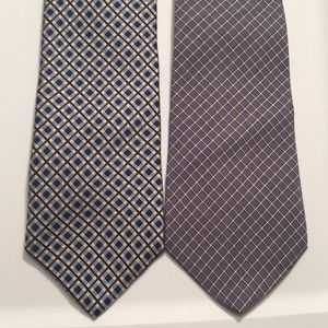 Pair of 2 Tommy Hilfiger ties Crisscross patterns